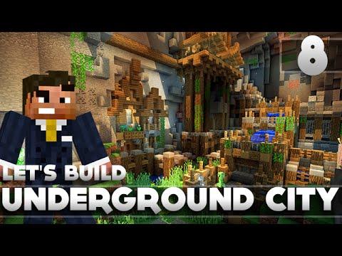 Minecraft - Advanced Underground Base/City Tutorial Let's Build Part 8 Xbox 360/PC/PS3