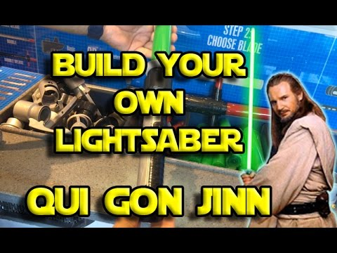 Star Wars | Build your own Qui Gon Jinn Lightsaber toy at Disneyland