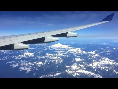 Delta Airbus A330 AWESOME Arrival Over the Rockies & SMOOTH Landing @ Seattle!