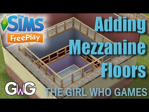 The Sims Freeplay- How to Add Mezzanine Floors (indoor balconies)