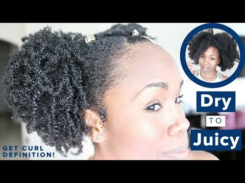 NATURAL HAIR | Dry & Thirsty to Moisturized & Juicy | WAKANDA Level Wash & Go + Store Products