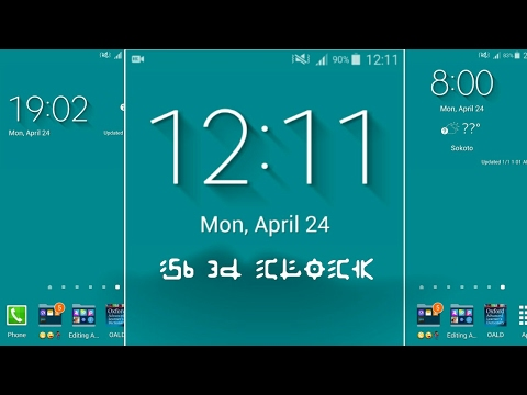 Install Samsung Galaxy S6 weather widget and  3D clock on any Android