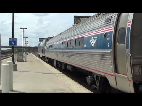 [HD] Riding Amtrak Missiouri River Runner and Lincoln Service from Kansas City to Chicago: 7/30/14