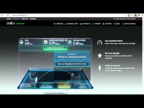 Reliance Netconnect Plus Speed Test