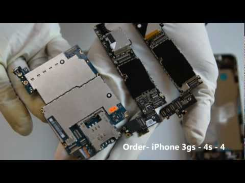 iPhone 4 4s and 3gs Motherboard Logic Board Difference