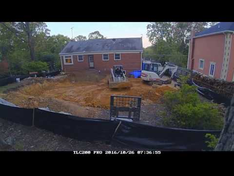 Timelapse video of addition excavation