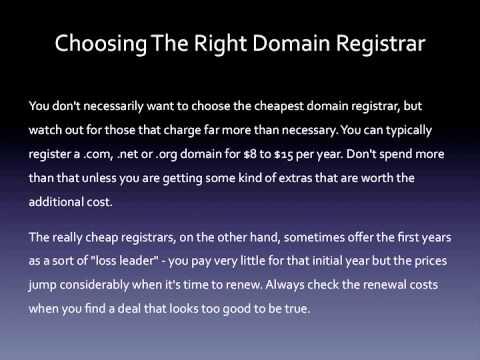 Choosing The Right Domain Registrar