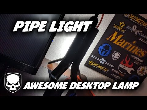 Pipe Light - Desk Lamp - HD - how to make an awesome desklamp