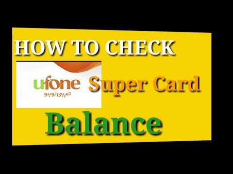 How to Check Ufone Super Card Balance