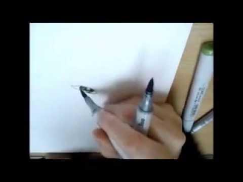 Copic Speedpainting: La Cachée Part I