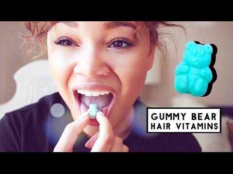 GUMMY BEAR HAIR VITAMINS | Sugarbearhair Review!