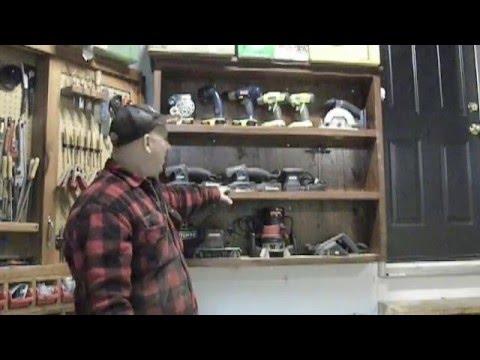 Cordless Tool Storage Cabinet - Workshop Organization Ideas