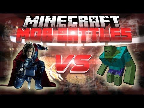 THOR Vs MUTANT ZOMBIE - Minecraft Mob Battles (Super Hero Mod)