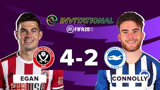 Sheffield United 4-2 Brighton ePL Highlights  | Egan vs Connolly | ePL Invitational Quarter-Final