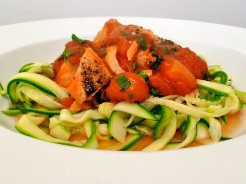 Spicy Salmon with Courgette Spaghetti Cook-Along Video Part 2