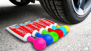 Experiment Car vs Toothpaste Balloons | Crushing Crunchy & Soft Things by Car!