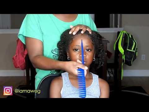 Quick & Easy 10 Min Sock Bun Hairstyle #2 | Kids Natural Hairstyle | IAMAWOG
