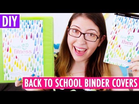 DIY Binder Covers inspired by YA Books - Back to School 2015!