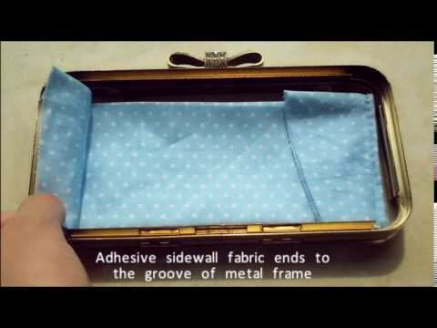 How to Make a Box Clutch / Minaudiere (Inner fabric part)