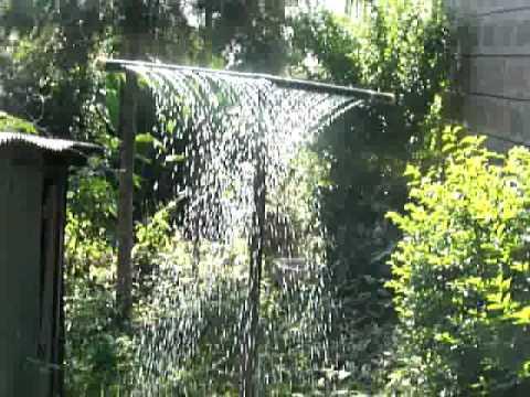 Homemade Curtain Shower PVC Sprinkler