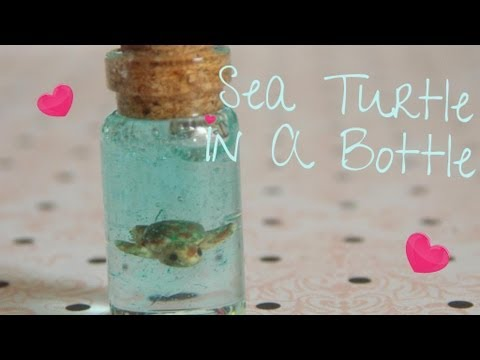 Sea Turtle In A Bottle Tutorial (Polymer Clay)