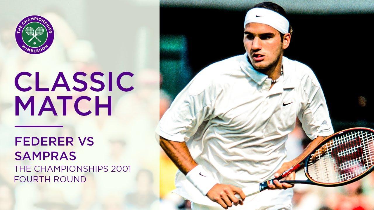 Roger Federer vs Pete Sampras   Wimbledon 2001 fourth round   Full Match