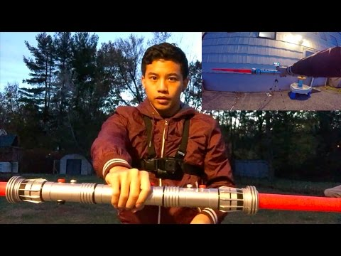 LIGHTSABER TRAINING - Episode III: Saber Staff/Double-bladed Spins | Tutorial (First-Person POV)