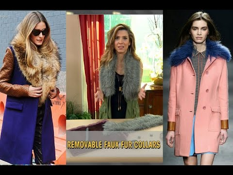 DIY How To Make a Detachable Faux Fur Collar