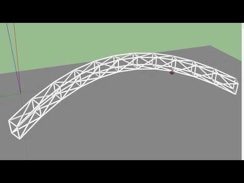 Curved Steel Trusses | Sketchup Quick Tip
