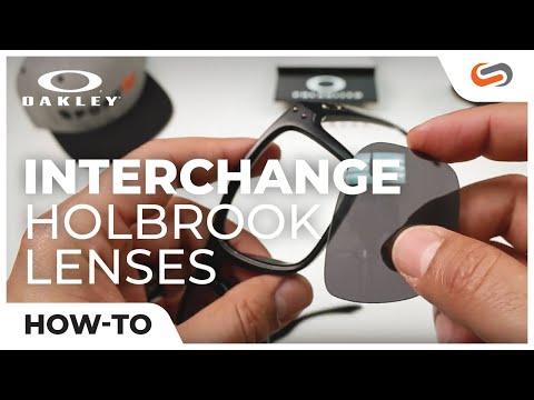 How To: Interchange the Oakley Holbrook Lenses | SportRx