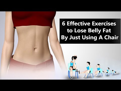 6 Effective Exercises to Lose Belly Fat Using A Chair