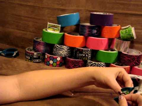how to make duck tape bows!!!! :) =]