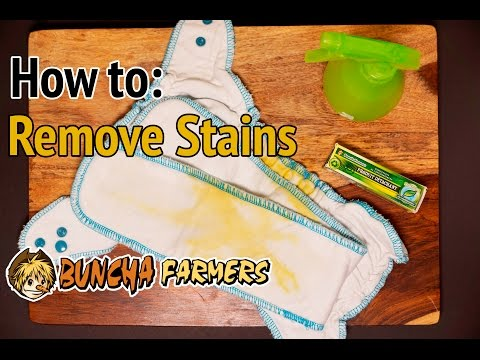 How To Get Stains Out of Cloth Diapers: Buncha Farmers