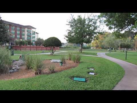 Walking through the grounds at Shades of Green Florida