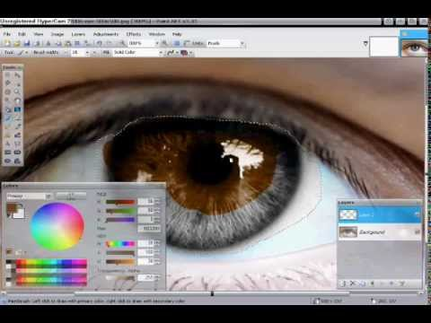 How To Change An Eye Color With Paint.net