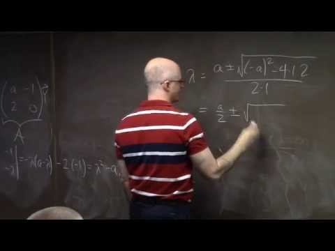 Diff Eqs #22, Zero as an Eigenvalue, Bifucations of Linear Systems, Trace-Determinant Plane