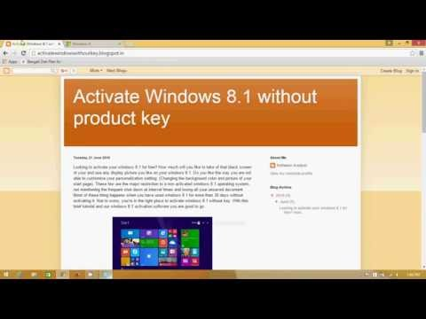 How to activate Windows 8 / 8.1 without product Key