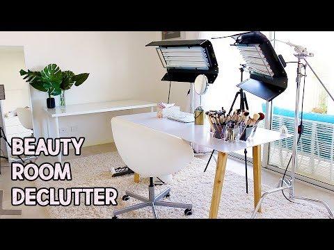 MASSIVE BEAUTY ROOM DECLUTTER! | Lauren Curtis