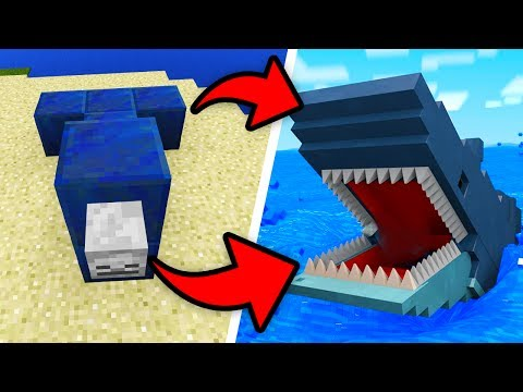 How To Spawn JAWS in Minecraft Pocket Edition! (Jaws Shark/Megalodon Addon)