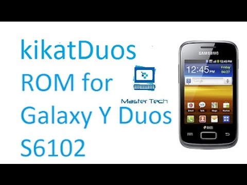 How To Install KitKatDuos for Samsung Galaxy y duos GT-S6102[STABLE]
