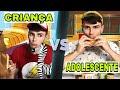 CRIANÇA VS ADOLESCENTE PETER TOYS