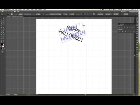 How to Rotate Text using Illustrator