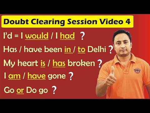 English Grammar & Spoken English Doubt Clearing Session 4 | English Speaking Course Full Video
