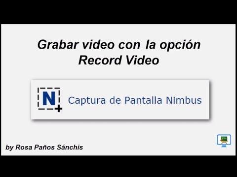 Grabar video con 'Record Video' de Nimbus Screen Capture  (HD con subtitulos