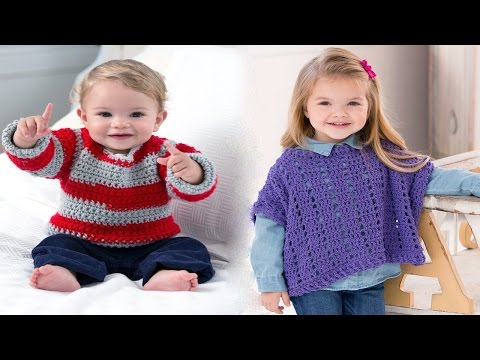 Simple Baby Sweater Crochet Project 💓 ᴴᴰ █▬█