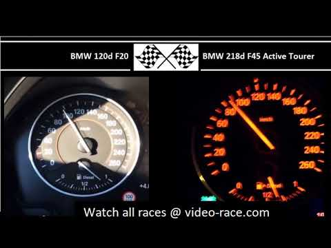 BMW 120d F20 VS. BMW 218d F45 Active Tourer - Acceleration 0-100km/h