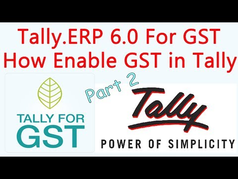 Tally.ERP 9 Release 6.0 For GST Part 2