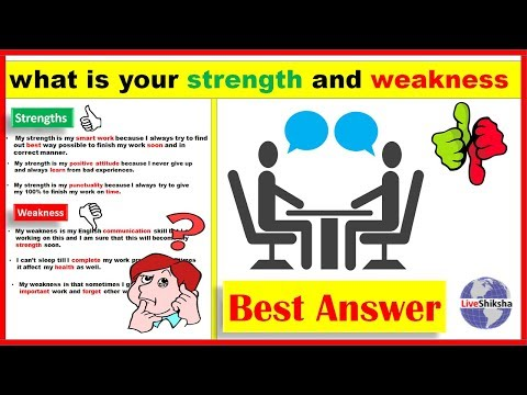 What Is Your Strength And Weakness Interview | Strength And Weakness Job Interview Answers