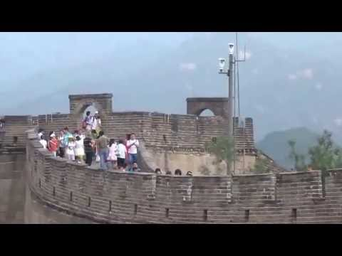 Walk Up  the Great Wall in China Summer 2016