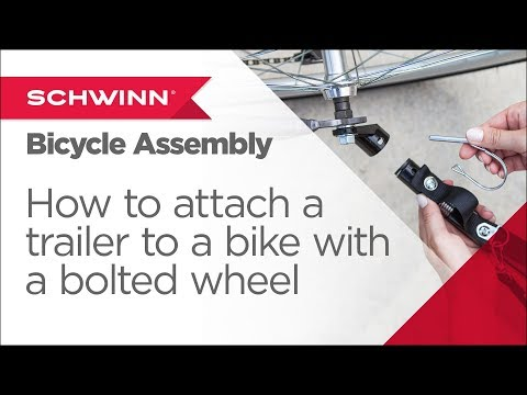 How to Attach a Schwinn/Instep Trailer to a Bicycle with Bolted Wheel